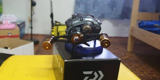 Fishing reel bait casting Daiwa Tatula SV TWS with Storm Discovery rod second hand