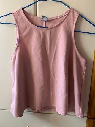 粉紅色背心 pink top 雪紡