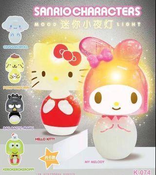 2018年Sanrio characters 迷你小夜燈扭蛋 地區限定 布甸狗布丁狗 Pompompurin Hello Kitty #台燈#枱燈#上海#台灣