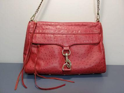 🚚 Authentic Rebecca Minkoff red embossed leather MAC Daddy