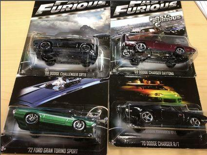 🚚 Bnib Hotwheels fast and furious 4cars collection #AmplifyJuly35