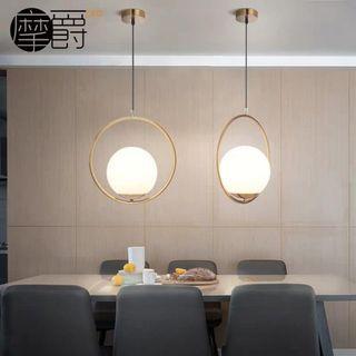 Single head decoration pendant light