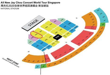 Row 20! Cat 1 x 2 All New Jay Chou Concert 2020