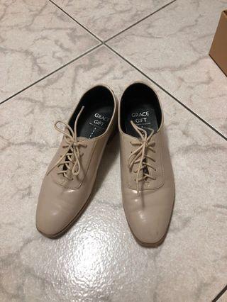 Grace gift 23.5 杏色 牛津鞋