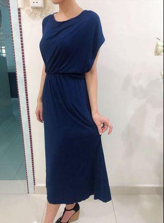 Long Dress navy color