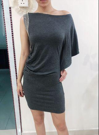 Grey color dress