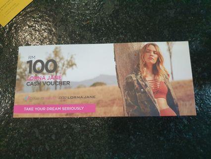 RM100 Lorna Jane voucher