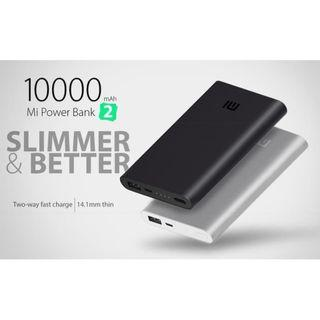 Xiaomi Powerbank 2 10000 mah Fast Charging Original - Silver - Hitam