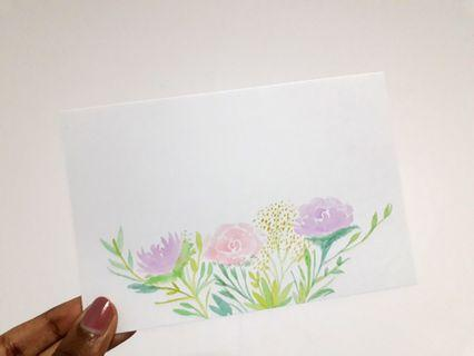 Floral themed customizable calligraphy (instocks)