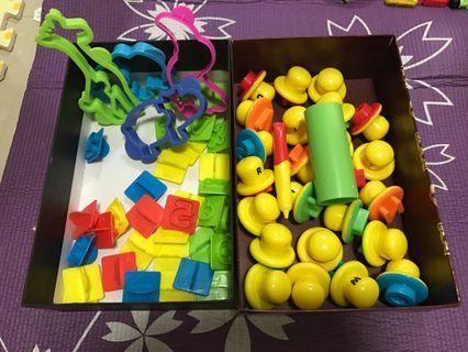 兒童玩具 兩套26個字母 +數字+動物橡皮泥 模具