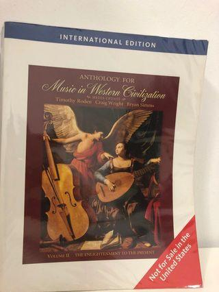 Music in Western Civilisation - Anthology