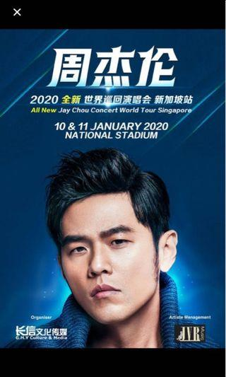 Jay Chou 2020 - 11 Jan, Cat 2 tickets for sale