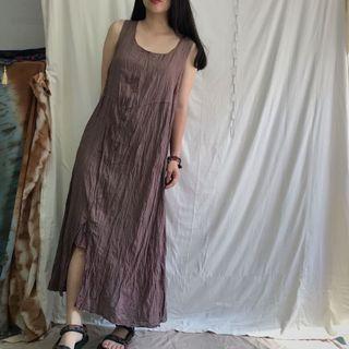 🚚 森林 舒適 很長の 棉麻洋裝 •4ingood•