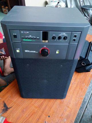 Amplified speaker for videoke tv dvd and cellphone