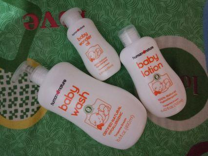 Sale!! Human nature baby wash,lotion and oil