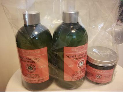 Loccitane Shampoo / conditioner / mask