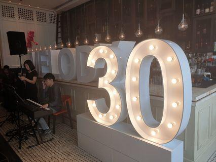 GIANT MARQUEE LIGHTS & LETTERS FOR EVENTS (RENT)