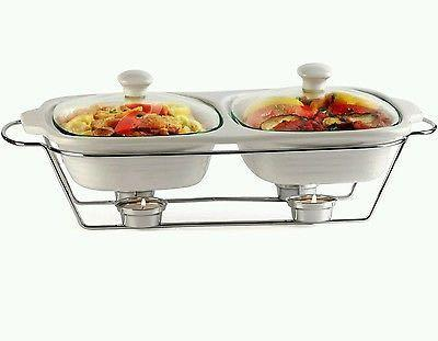 Twin casserole with candle stand