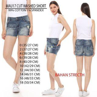 Branded Maurices Cut Washed Short Pants
