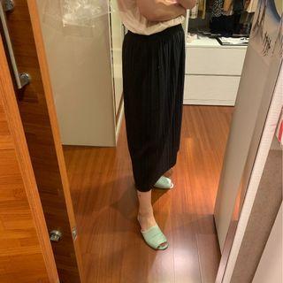 🚚 重磅條紋 黑長裙