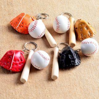 [NEW] Chain For Gift Key Holder Keyring Keychains Softball Baseball Charm Pendant