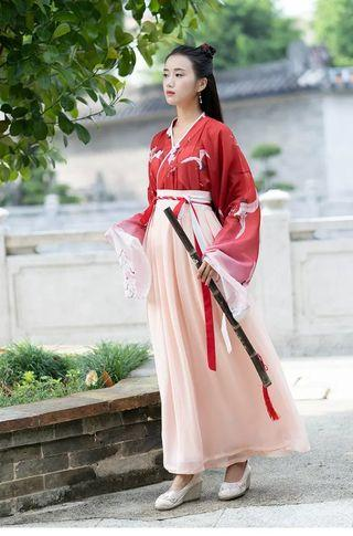Red Chinese Traditional Dress