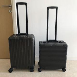 "Black Luggage 20"" Cabin Size, Small Luggage, Full Aluminium $249 and Non Metal $180"