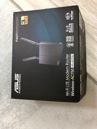 ASUS 華碩 simcard router WiFi LTE AC750 4G-AC53U