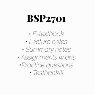 BSP2701 Global Economy Study Guide