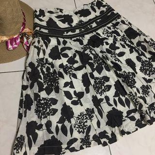 **Black Flora Skirt for Sales**