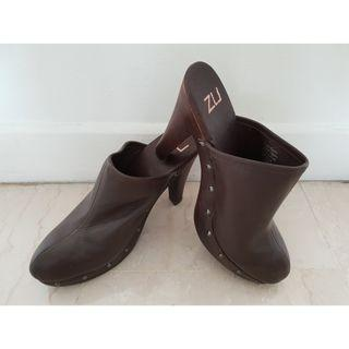 Full Leather High Heel Shoes (Brand- Zu)