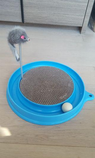 New Cat Toy with Scratching Board