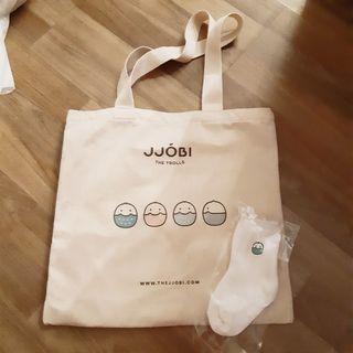 🚚 BN JJOBI Canvas Bag with White Toddler Sock