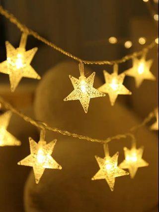Maybee 裝飾星星燈 led星星 串燈滿天星 房間臥室裝飾 佈置宿舍星空 1.5米電池款 常亮