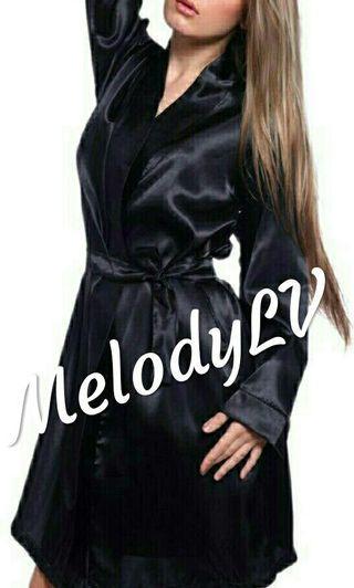 Black Night Robe sleepwear