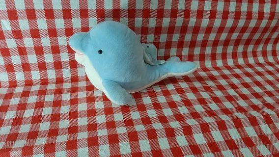 🚚 大鯨魚+小鯨魚娃娃