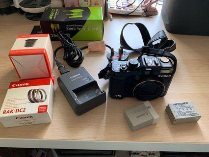Canon powershot G10 with accessory
