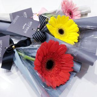 #195 | Single Stalk Gerbera | Graduation | Convocation 2019 | Birthday | Anniversary | Flower Delivery | Message Card Included