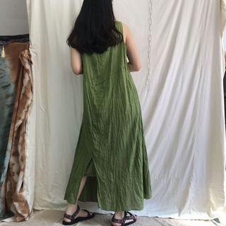 🚚 森林 日系 無袖 民族 舒適の棉麻洋裝 •4ingood•