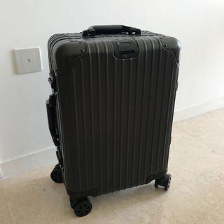 "Cabin Luggage, Black 20"" Luggage, Black Luggage, Black Aluminium Luggage, High Grade Aluminium Metal Luggage"
