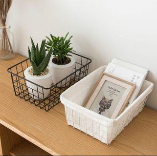 Nordic Japanese Style Iron Storage Basket