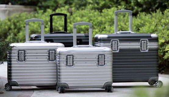 """Aluminium Luggage, 20"""" 26"""" 29"""" From $249 to $429"""
