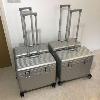 """Metal Luggage, Full Aluminium Body Luggage Bag, Cabin Size 20"""" Luggage, 22"""" Pilot Luggage"""