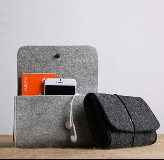 🚚 Felt Power Pack Cable Mouse Storage Bag