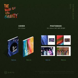 DAY6 THE BOOK OF US : GRAVITY ALBUM