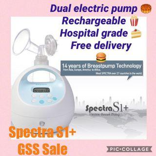 NEW spectra s1+ rechargeable dual electric breast pump hospital grade 3 pin Singapore