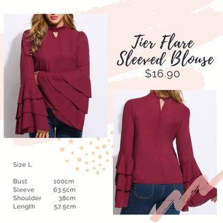 [ Size L ] Tier Sleeve Top