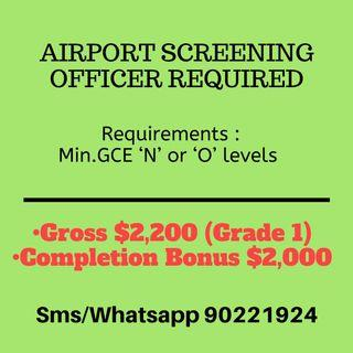 🚚 $2200 | Airport Screening Officer Needed