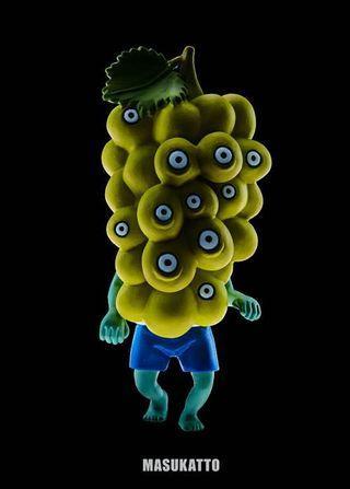 Fruit Zombie 3 水果喪屍扭蛋 青提 1個