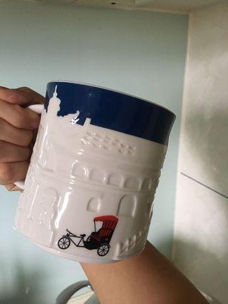 星巴克starbucks北京浮雕城市杯